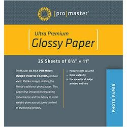 "ProMaster Ultra Premium Glossy Inkjet Paper 8.5""x11"" - 25 Sheets"