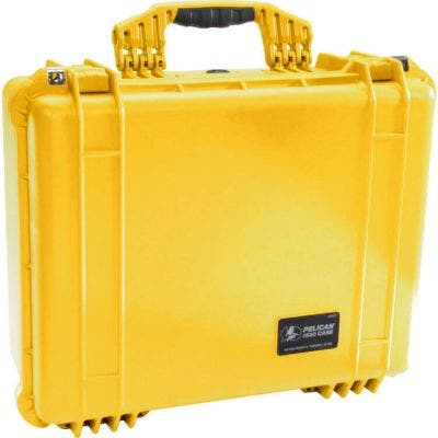 Pelican 1550 Yellow Case with Foam