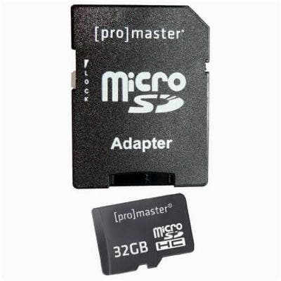 ProMaster microSD Performance 32GB 375X 56MB/s Memory Card with Adapter
