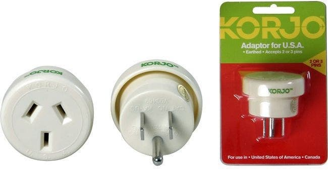 Korjo USA 3pin Adaptor