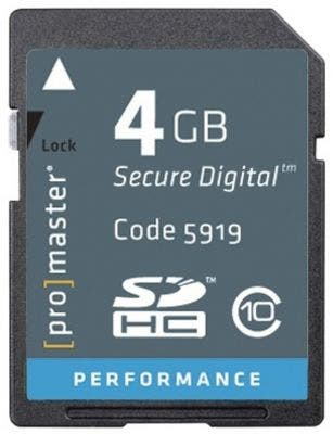 ProMaster SDHC Performance 4GB (2.0) - V10 Memory Card