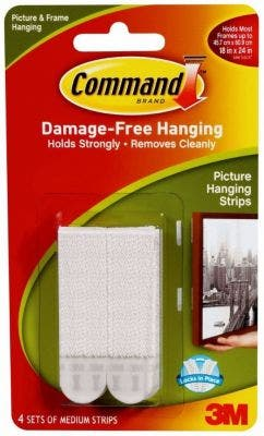 3M Command Medium Picture Hanging Strips 4pk - 17201-4pk