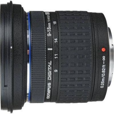 Olympus 9-18mm f/4.0-5.6 Ultra Wide Zoom Telephoto 4/3rd lens for DSLR Cameras