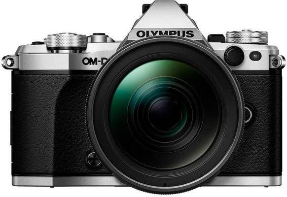 Olympus OM-D E-M5 Mark II Silver w/12-40mm Lens Compact System Camera