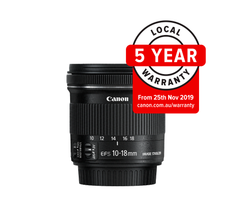 Canon EF-S 10-18mm f/4.5-5.6 IS STM Wide Angle Lens