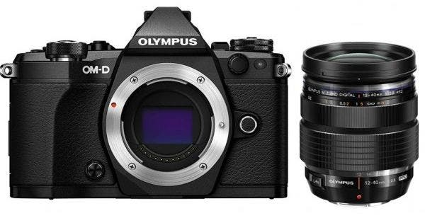 Olympus OM-D E-M5 Mark II w/ 12-40mm Lens Black Compact System Camera
