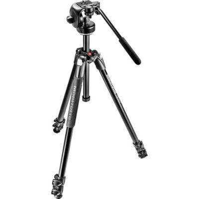 Manfrotto MK290XTA3-2W 3 Section - Tripod Kit with Fluid Video Head & Bag