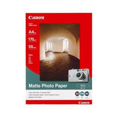 Canon MP-101 A4 50 Sheets 170gsm Matte Photo Paper