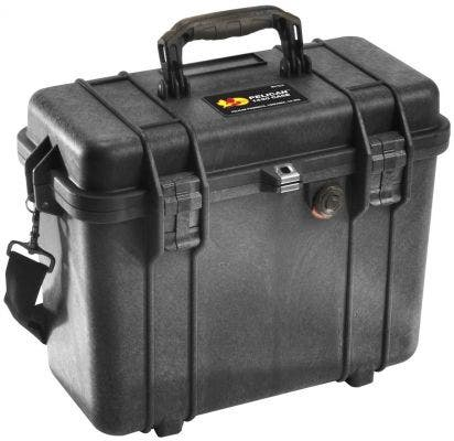 Pelican 1430 Black Case with Photo Divider Lid