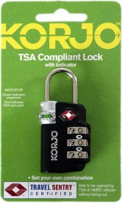 Korjo TSA Compliant Combination Lock w/ Indicator