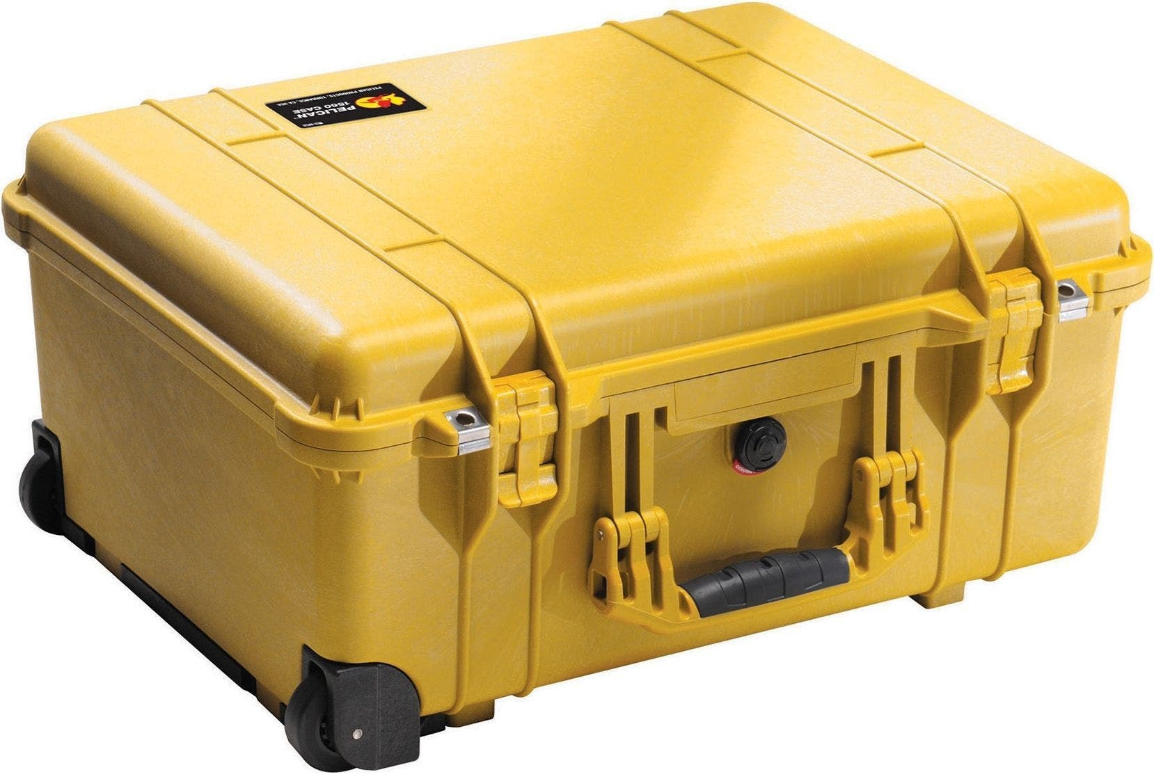 Pelican 1560 Yellow Case with Papped Dividers