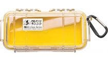 Pelican 1030 Micro Clear Case - Yellow with Yellow Liner