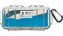 Pelican 1030 Micro Clear Case - Blue with Blue Liner