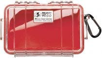 Pelican 1050 Micro Clear Case with Red Liner