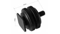 """SmallRig Cold Shoe Adapter with 3/8"""" to 1/4"""" Thread(2pcs Pack) 1631"""