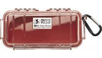 Pelican 1030 Micro Clear Case - Red with Red Liner