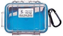 Pelican 1010 Micro Clear Case - Blue with Blue Liner