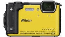 Nikon Coolpix W300 Yellow Digital Compact Camera w/Black Silicone Jacket
