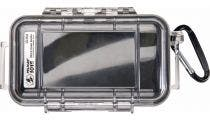 Pelican 1015 Micro Clear Case - Black with Black Liner