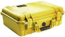 Pelican 1500 Yellow Case with Padded Dividers