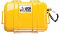 Pelican 1020 Micro Case - Yellow with Black Liner
