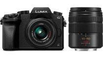 Panasonic Lumix G7 Body w/ 14-42mm & 45-150mm Lens Black Compact System Camera