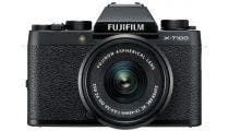 FujiFilm X-T100 Black w/XC15- 45mm & XF27mm Lens CS Camera w/Bonus Bag & Battery