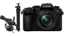 Panasonic Lumix G95 w/12-60mm f/3.5-5.6 Battery Promaster Crazy leg Tri w/ Rode VideoMic