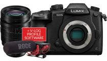 Panasonic GH5 Body w/10-25mm f/1.7 G Lens, Microphone &VLOG Software Compact System Camera