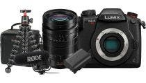 Panasonic GH5S Body w/10-25mm f/1.7G Lens,Microphone,Tripod, Bag & Bonus Battery CS Camera
