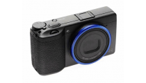 Ricoh GR III Black Kit Digital Compact Camera with GN-1 Blue Ring Cap