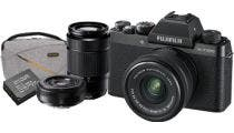 Fujifilm X-T100 Black w/XC15- 45mm, XC50-230mm & XF27mm Lens CS Camera w/Bonus Bag &Battery