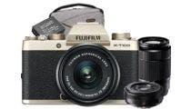 Fujifilm X-T100 Champagne Gold wXC15-45, 50-230 & XF27mm Lens CS Camera w/Bonus Bag &Battery