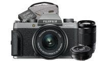 Fujifilm X-T100 Dark Silver w/ XC15-45, 50-230 & XF27mm Lens CS Camera w/Bonus Bag &Battery