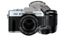 Fujifilm X-T20 Silver w/XF18- 55mm, XC50-230mm, XF27mm Lens Camera w/Bonus Bag & Battery