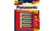 Panasonic AA 4 Pack Alkaline Battery