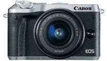 Canon EOS M6 Silver w/EF-M 15-45mm f/3.5-6.3 IS STM Lens Compact System Camera