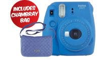Fujifilm Instax Mini 9 Instant Camera - COB Blue w/Instax Mini Chambray Case