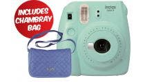 Fujifilm Instax Mini 9 Instant Camera - Ice Blue w/Instax Mini Chambray Case