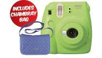 Fujifilm Instax Mini 9 Instant Camera - Lime Green w/Instax Mini Chambray Case