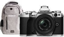 Olympus OM-D E-M5 Mark II Silver w/14-42mm IIR Lens & Bonus Backpack & Battery CSC