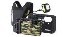 Nikon Coolpix W300 Camouflage Digital Compact Camera w/Bonus Backpack & Floating Strap