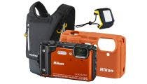 Nikon Coolpix W300 Orange Digital Compact Camera w/Bonus Backpack & Floating Strap