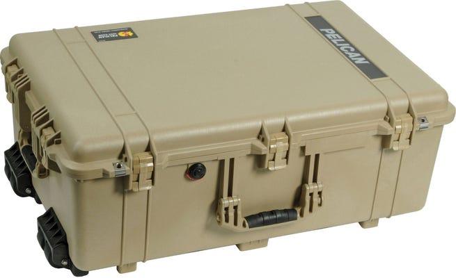 Pelican 1650 Desert Tan Case with Foam