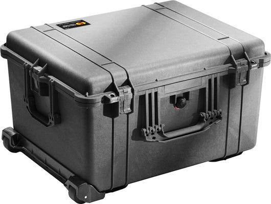 Pelican 1620 Black Case with Padded Dividers