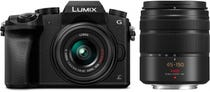 Panasonic Lumix G7 Body w/ 14-42mm & 45-150mm Lens Black Compact System Camera