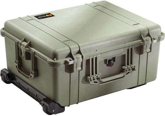 Pelican 1610 Olive Green Case with Padded Dividers