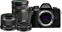 Olympus OM-D E-M10 Mark III Black w/14-42mm EZ, 40-150mm & 25mm f/1.8 Lens CS Camera