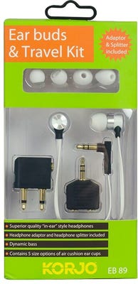 Korjo Ear Buds & Travel Kit