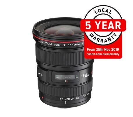 Canon EF 17-40mm f/4L USM Wide Angle Lens